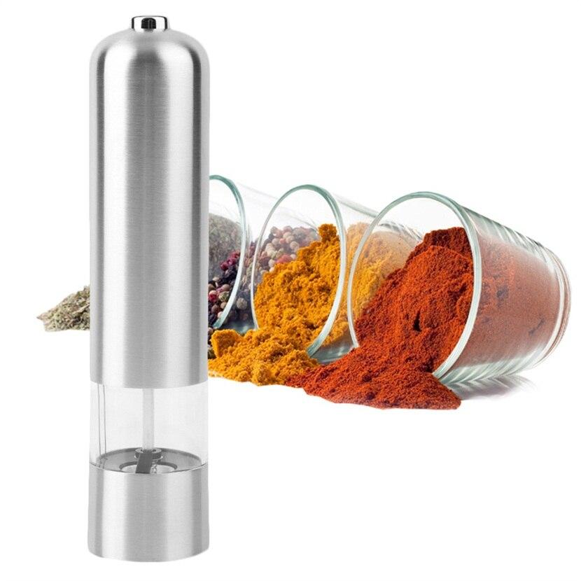 1 PC Elettrico In Acciaio Inox Sale Pepe Mill Spice Grinder Muller Attrezzo Della Cucina Negozio In Tutto Il Mondo