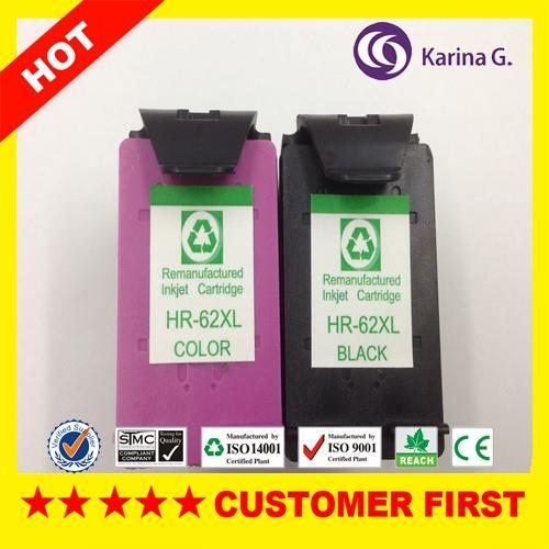 Cartuchos de Tinta para hp 62 xl, alto Color : c m y Tri-color bk