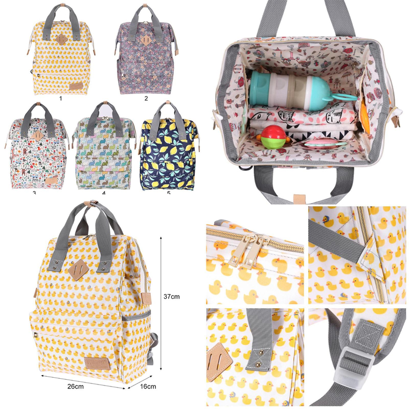 11style Baby Diaper Bag 2019 Multifunctional Mom Diaper Bag Travel Mummy Mother Bag High Quality Maternity Doodle Print Handbag