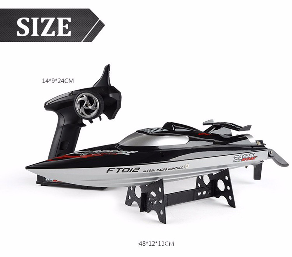 FT012 RC Boat High Speed 45km/hour 2.4GHz Anti-collision Remote Control boat Fun toys for kids gifts aluminum water cool flange fits 26 29cc qj zenoah rcmk cy gas engine for rc boat
