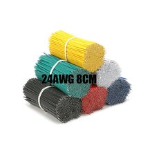 Free shipping 50pc solder wire 24AWG 8CM Electrical Fly Jumper Wire DIY Insulated Hand Repair Cable Tin Conductor