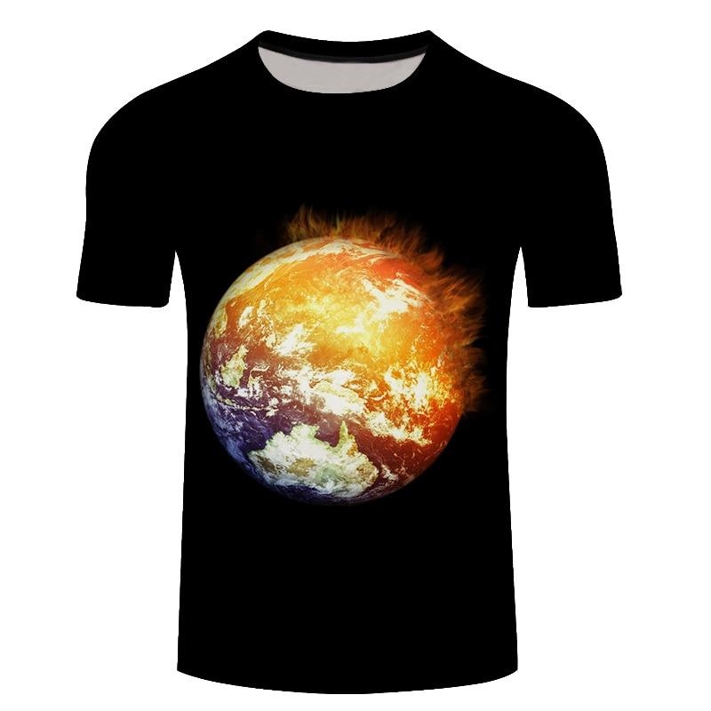 Galaxy 3D T-shirt Men Clothes 2018 Light Star 3D Print Short Sleeve Spring Summer Tee Shirts Man Tops Plus Size 5XL