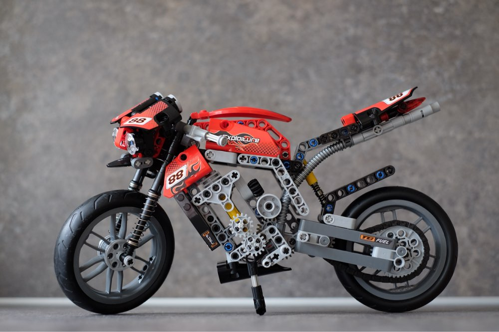 Decool 3354 Technic Motorbike Motorcycle Car model building bricks blocks toys children Boy Game Gift kid set compatiable Lepin