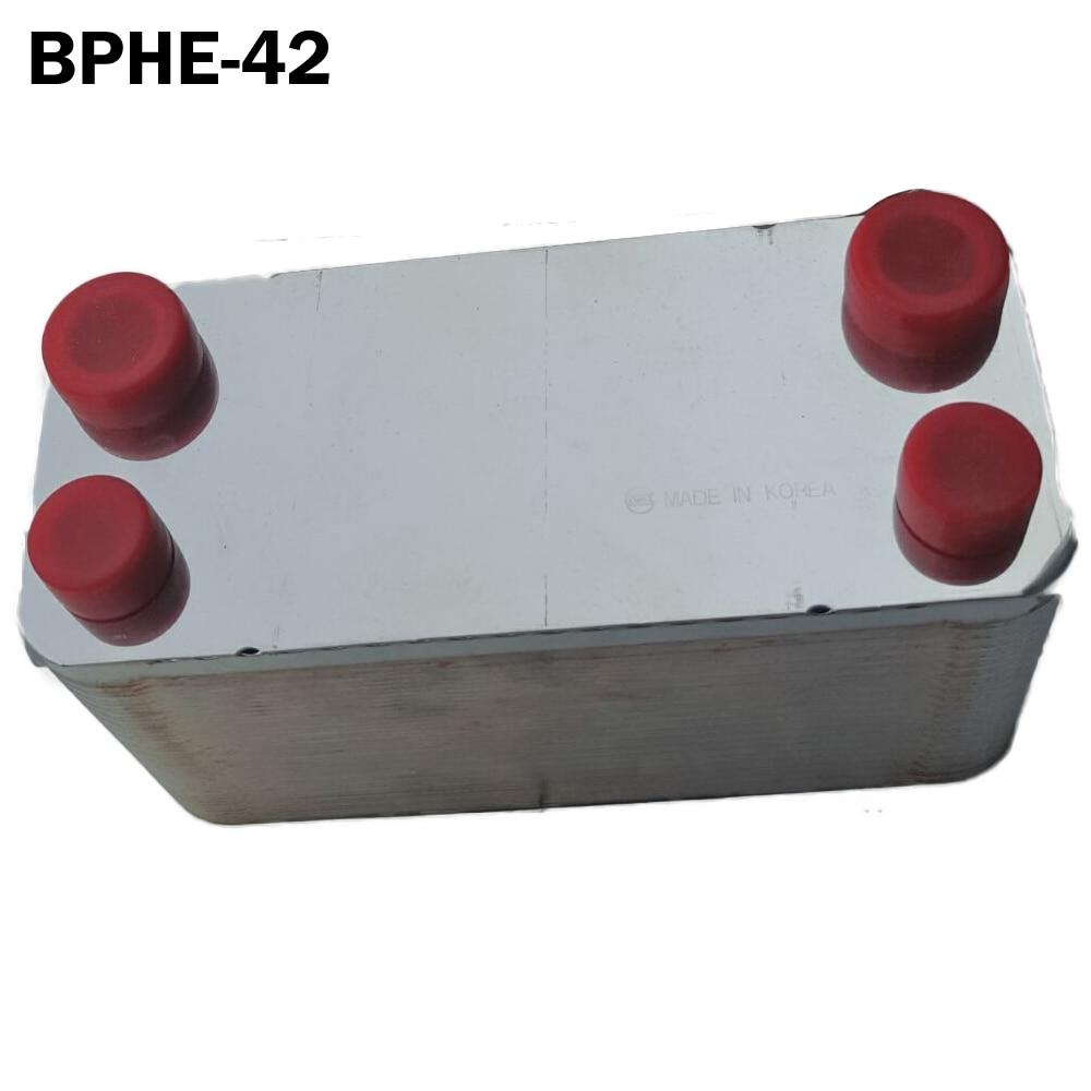 42 placas intercambiador de calor de placa de acero inoxidable SUS304, mini intercambiador de calor de tamaño pequeño generador rápido de agua caliente