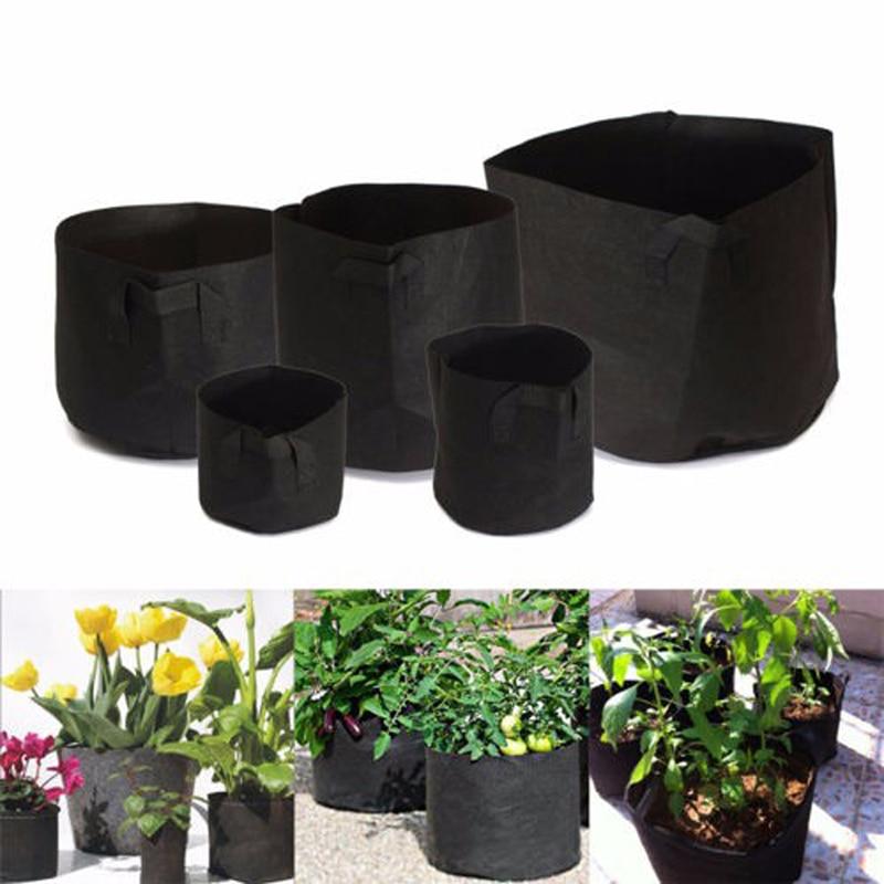 Felt Fabric Pot Planting Bags Cultivation Garden Pots Planters Vegetable Nursery Bags Grow Bags Farm Home Garden Supplies