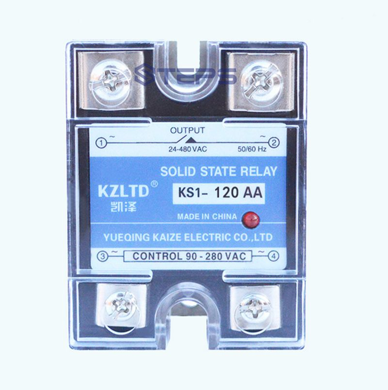 Single-phase solid state relay 120A AC to AC high power solid state relay contactor high quality ac ac 80 250v 24 380v 60a 4 screw terminal 1 phase solid state relay w heatsink