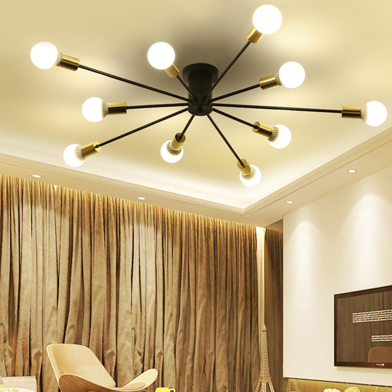 Free Shipping Vintage Ceiling Black or White Painting Flush Mount Retro Led Lights Lamp Lighting for Living Room D120xH20 CM lustre flush mount led modern crystal ceiling lamp lights with 1 light for living room lighting free shipping