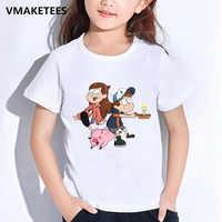 Kinder Sommer Mädchen & Jungen T shirts Schwerkraft Fällt Mabel Löffel Kiefer Cartoon Drucken kinder T-shirt Lustige Baby Kleidung, HKP2415