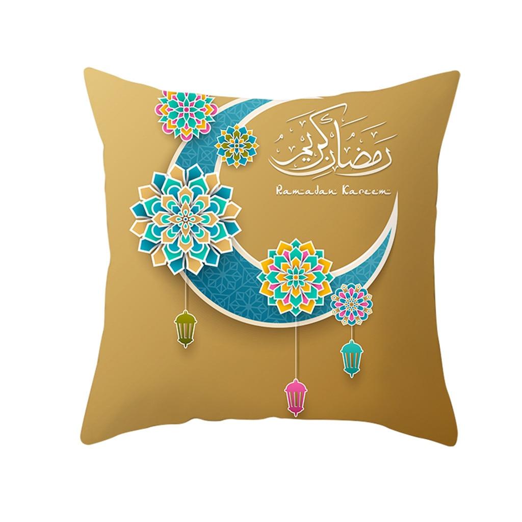 Islam Muslim Masjid Mosque Cushion Covers Ramadan Moon Art Cushion Cover Decorative Cotton Linen Pillow Case Ramadan Pattern