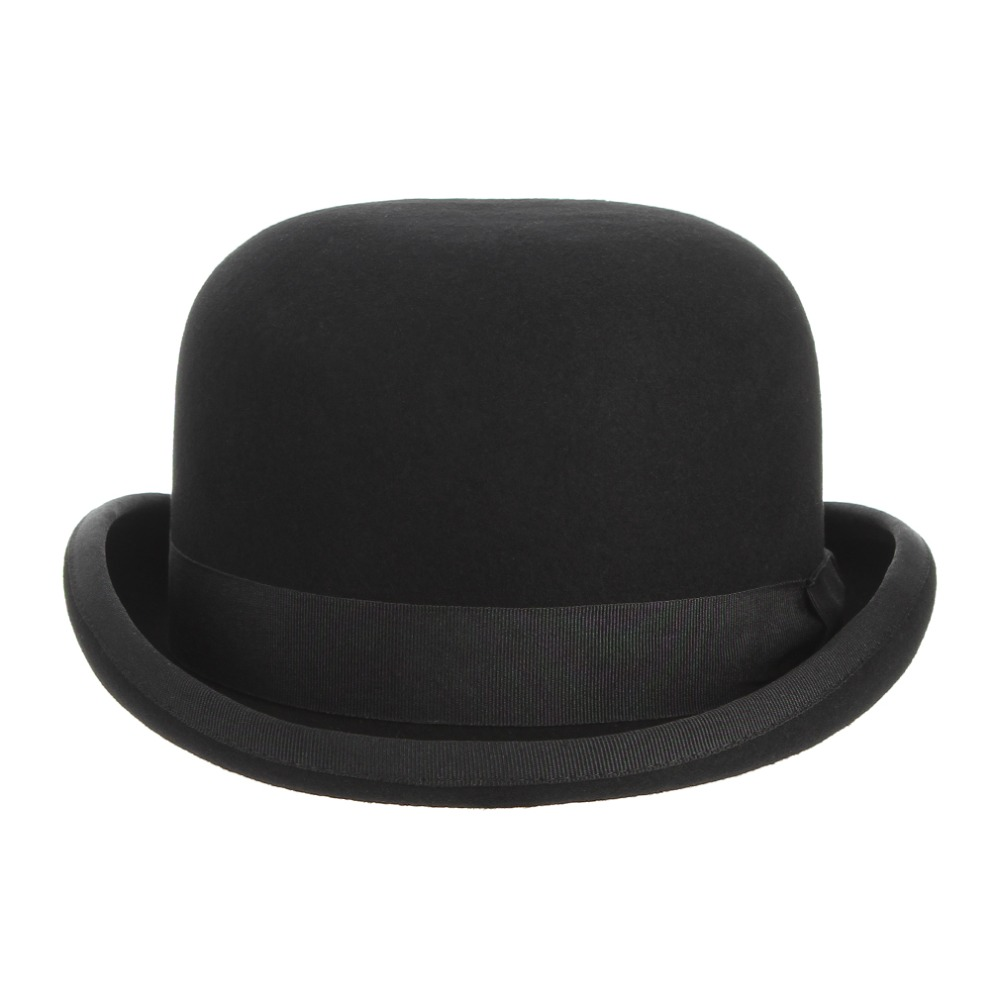 Image 3 - GEMVIE 4 размера 100% Шерсть Войлок черный Дерби котелок шляпа для мужчин женщин атласная Подкладка модные вечерние Формальные Fedora Костюм Шляпа Волшебника-in Мужские фетровых from Аксессуары для одежды on AliExpress - 11.11_Double 11_Singles' Day
