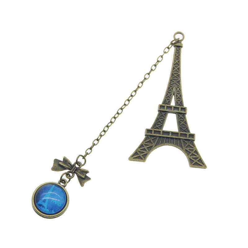 New Arrival Vintage Eiffel Tower Metal Bookmarks For Book Creative Item  Kids Gift Korean Stationery Free Shipping 426