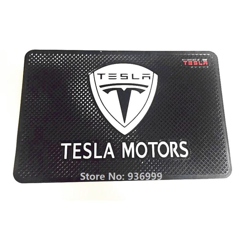 Tapis antidérapant adapté aux accessoires de style de voiture Tesla Modèle S Roadster Modèle X Modèle 3 P85D 70D P85 85D