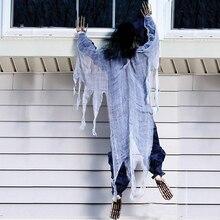 """Cadılar bayramı 63 """"Yaşam Boyutu Tırmanma Zombi Cadılar Bayramı Perili ev Prop Dekor Kaçış Korku Cadılar Bayramı Süslemeleri"""
