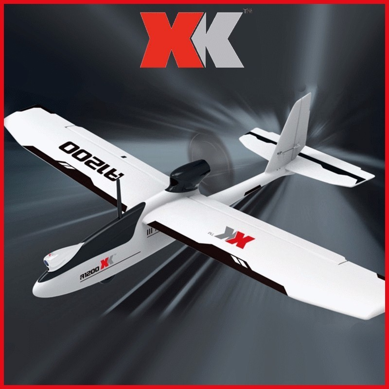 WLtoys XK A1200 3D 6G Brushless Motor Fixed-wing Airplane 5.8G FPV 2.4G 6CH S-FHSS EPO RC Airplane Glider RTF 89CM Length Drone image