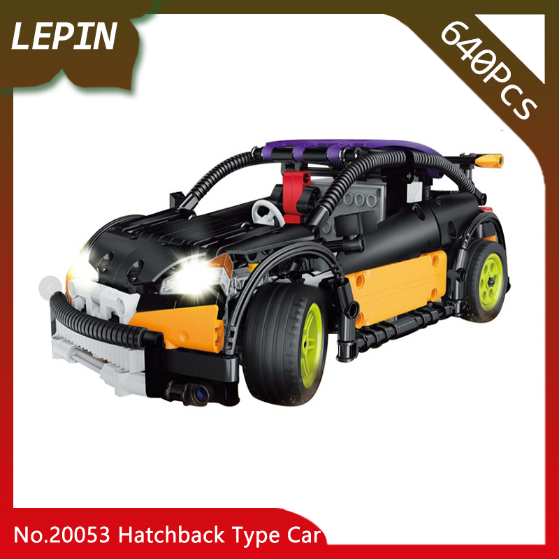 Lepin 20053 Hatchback Type RC Car MOC-6604 Technic Series 640pcs Building Block Children Remote Control Car Educational Brick technican technic 2 4ghz radio remote control flatbed trailer moc building block truck model brick educational rc toy with light