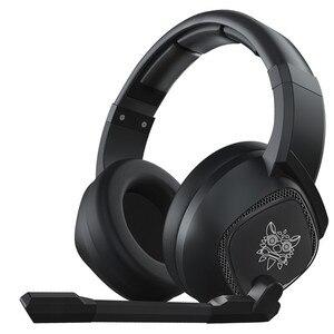 Image 1 - LEORY K19 RGB LED אור USB משחקים שחור אוזניות 2.1m סטריאו הפחתת רעש Wired אוזניות אוזניות עם מיקרופון