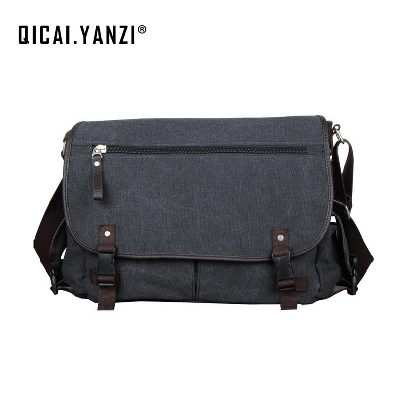 2017 Brand New Men Messenger Bags Canvas Satchel Shoulder Bag Handbag Multi Pockets High Quality Free Shipping P436 bobo men s pockets chest bag sport men s bags bag multi function outdoor canvas small satchel wave new