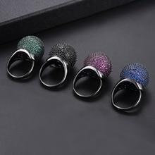 GODKI 21 мм, роскошное женское кольцо с кубическим цирконием в Дубае, обручальное кольцо на кастет для женщин, ювелирные изделия для свадебной вечеринки, ювелирные изделия для женщин Anillos