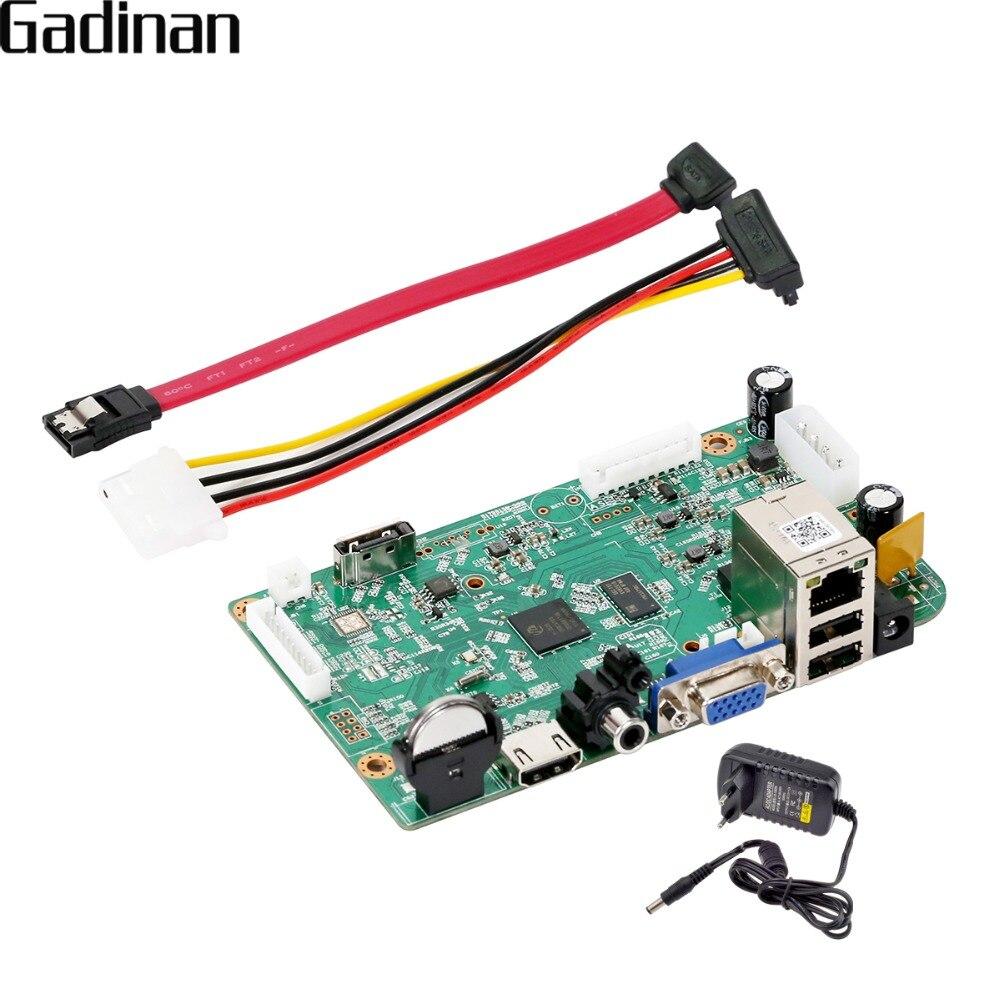 GADINAN CCTV NVR CARTE Principale Hi3536D H.265/H.264 Réseau Enregistreur Vidéo 8 Canal 4.0MP (4 Canal 5.0MP) sortie HDMI Pour DIY NVR