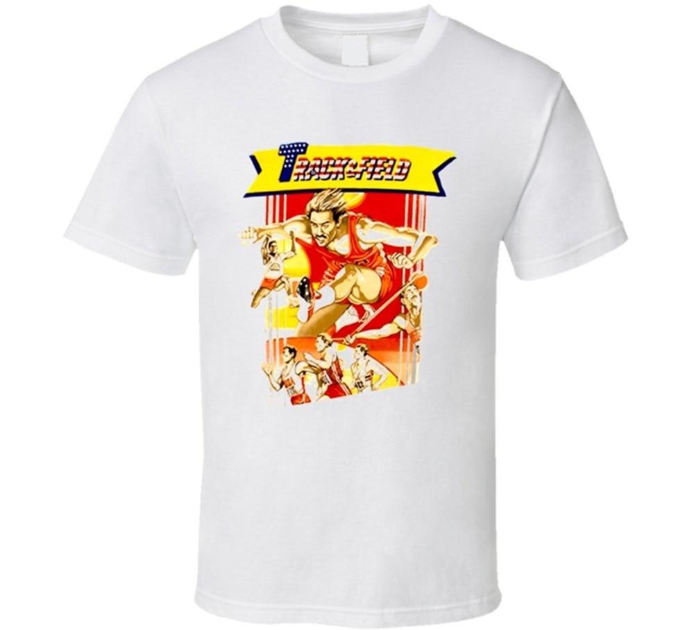 Новинка Дизайн Для мужчин Konami отслеживать и области видео игры Футболка Для Мужчинs Рубашки для мальчиков Для мужчин одежда Новинка Прохла...