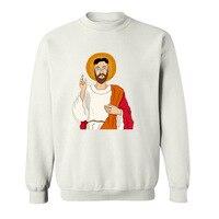2017 Various Colors Funny Cotton North Korean Jesus Funny Hoodies Sweatshirts For Men