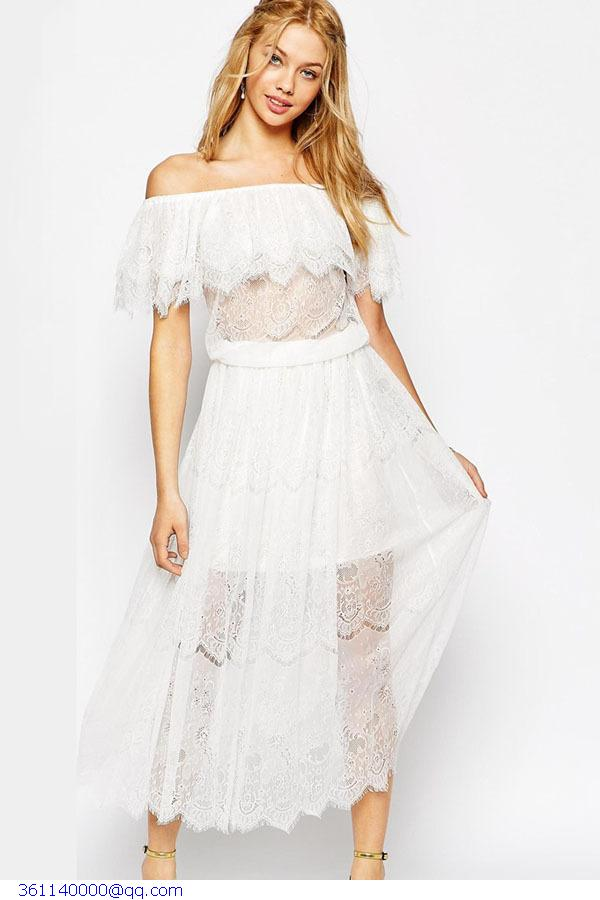 Pin on flowy beach wedding dress |Tahari White Dress Hippie Bohemian