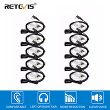 10pcs PTT MIC In-ear Earpiece Walkie Talkies Headset For Kenwood For Baofeng UV5R UV82 888S Retevis H777 RT22 For TYT For Puxing