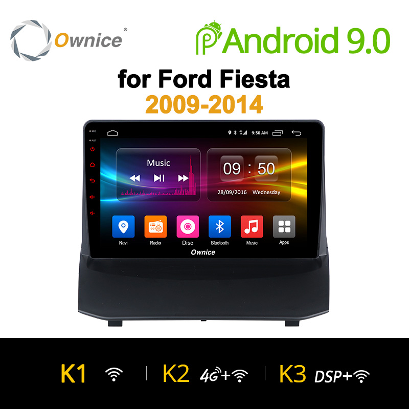 Ownice K1 K2 K3 Android 9.0 Car radio stereo for Ford Fiesta 2009 2015 Octa core car dvd GPS player with 2G RAM,32G ROM Audio