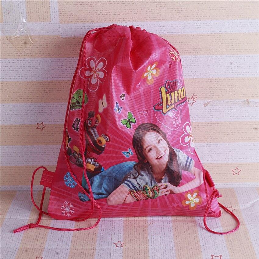 Новый 2 дизайн-ткани из Luna, рюкзак на шнурке, событий и партия подарок мешок, лапы сумка-шоппер