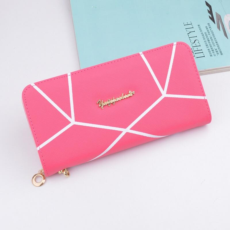Valink 2017 Famous Brand Geometric Designs Long Wallets Ladies Fashion Women Zipper Wallet Hand Bag Clutches Carteira Feminina 6