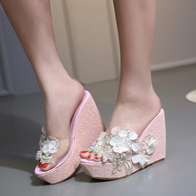 2019 Fashion Women Platform Sandals Wedges Sandals Summer Pink/White/Gold/Silver Female Shoes  Casual Lady Shoes Woman Footwear цена и фото