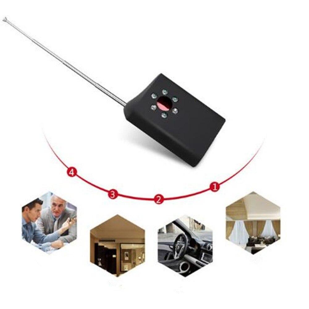 New Anti-spy Detector Hidden Cam GSM Audio Bug Finder GPS Signal Lens RF Tracker 1 pcs full range multi function detectable rf lens detector wireless camera gps spy bug rf signal gsm device finder