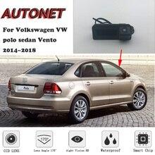 AUTONET резервного копирования заднего вида камера для Volkswagen Polo Sedan Vento 2014 ~ 2018 ствол ручка Парковка HD ночь visioin