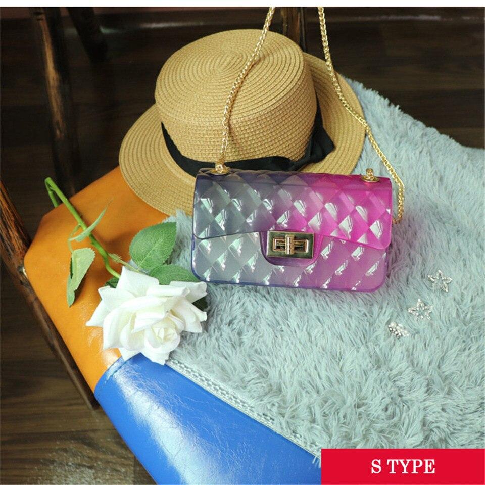 Moda colorido pvc saco das mulheres de