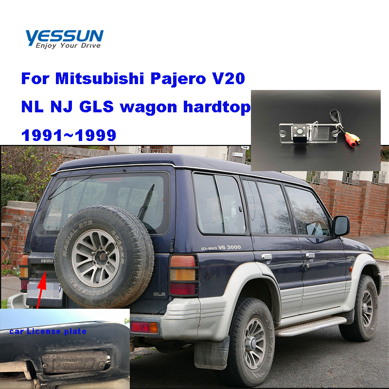 Yessun Rear-Camera Pajero Mitsubishi Car-License-Plate Parking-Assistance For V20 NL