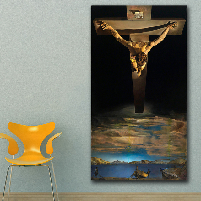 Christ of Saint John of the Cross by Salvador Dali Printed on Canvas 3