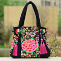 Designer Bags Women Embroidery Flower Tassel Handbags Ladies Tote National Canvas Women Shoulder Bags