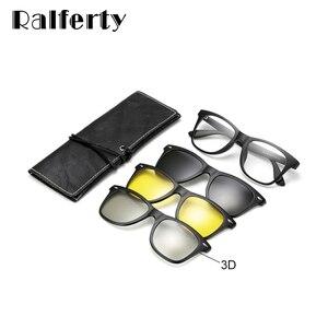 Image 5 - Ralferty רב פונקציה מגנטי מקוטב קליפ על משקפי שמש גברים נשים קל במיוחד TR90 3D צהוב ראיית לילה משקפיים