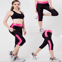 S-XL 2016 Spring-Summer Women Leggings fitness High Waist legins Elastic Fashion leggins Cropped trousers capris trousers