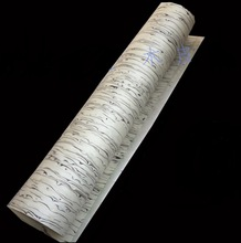 цена на L:2.5Meters Width:60cm Thickness:0.25mm Decoration Technology White Ice Bark Veneer (back non woven fabric)