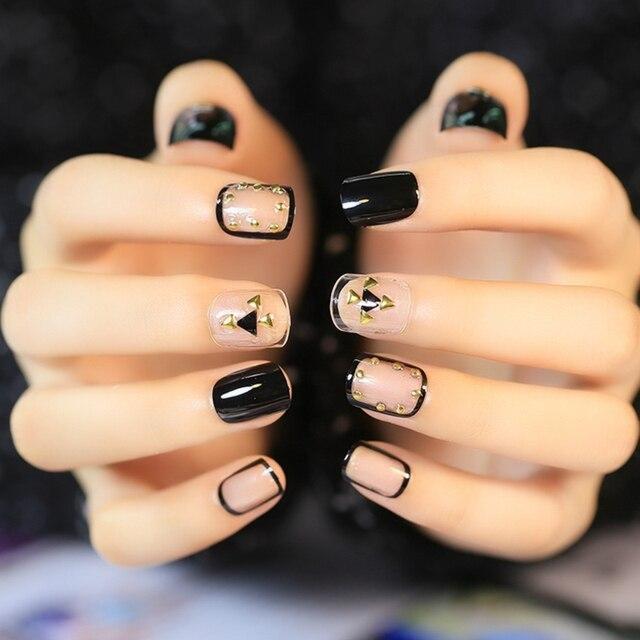 Nail Art Salon Quality Rivet Studs Decoration False Nails Short ...