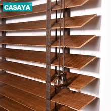 Casaya White Wooden Blinds Real Wood Brown/white/Camel/Black Basswood venetian Blinds Custom Size