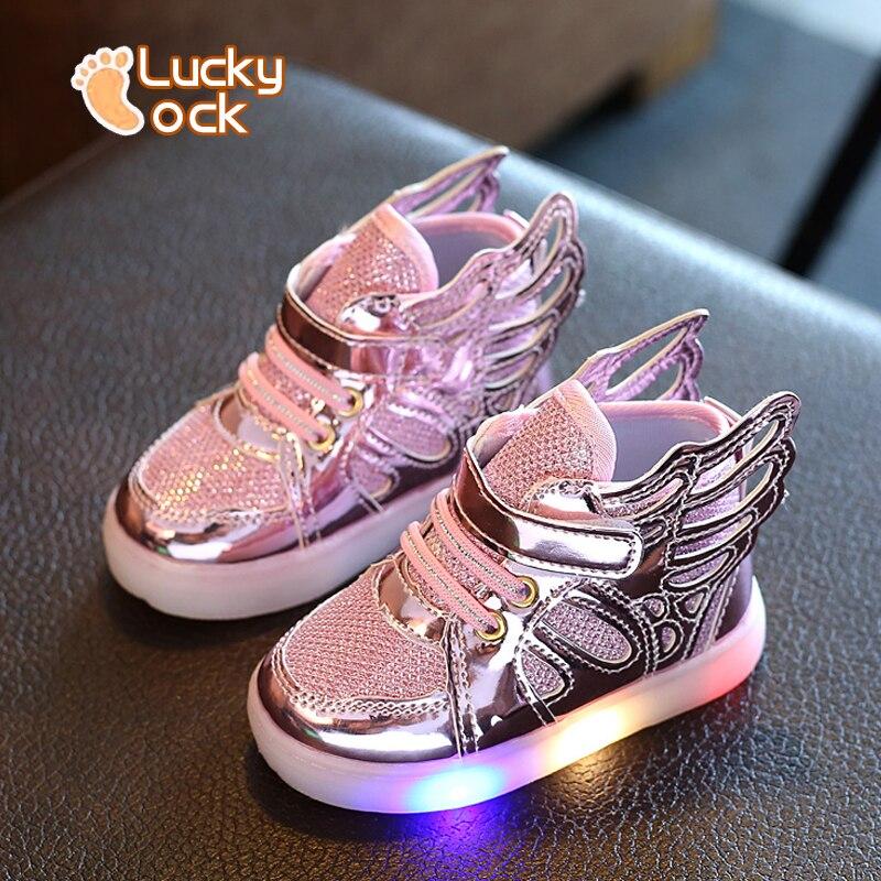 2016 Yeni Tasarımcı çocuk Koşu Işık ile Örgü Sneakers Kız Erkek Nefes Orijinal Çocuklar Ayakkabı Bebek Açık Spor Ayakkabı
