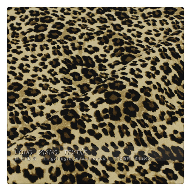 135 50cm1pc Fashion Y Leopard Fabric 100 Cotton Print Diy Sewing Stage Performance Clothing Material