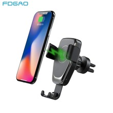 FDGAO 10W Car Mount Wireless Charger for iPhone XS Max XR X 8 Quick Qi Fast Charging Car Phone Holder For Samsung S10 S9 S8 Plus phone camera lens 9 in 1 phone lens kit for iphone x xs max 8 7 plus samsung s10 s10e s9 s8