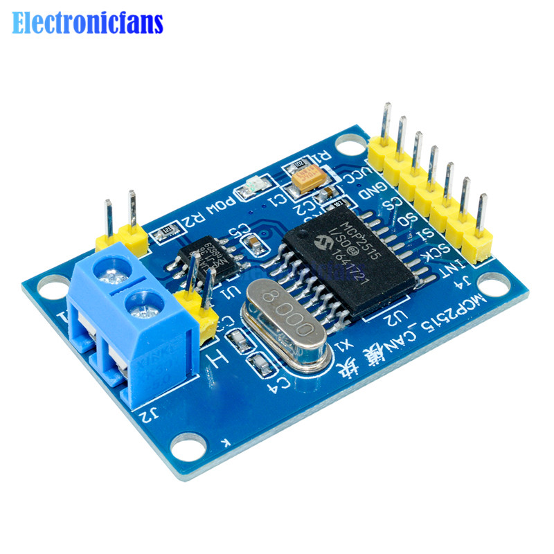 MCP2515 CAN Bus Module TJA1050 Receiver SPI Module For 51 MCU ARM Controller For Arduino DC 5V SPI Interface Control Resistors image