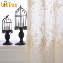 Rice Spike Embroidered Linen Curtains In Living Room Window Tulle And Curtain Custom Made 5 Colors