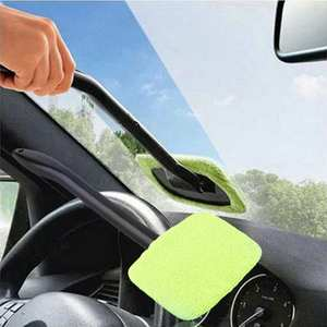 Microfiber car window cleaner long handle car wash car brush window windshield wiper cleaner car cleaning tool AD013