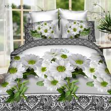 Popular flor 3D juegos de cama de cama ropa de cama queen doble king size duvet cover set de cama ropa de cama de algodón adulto #2