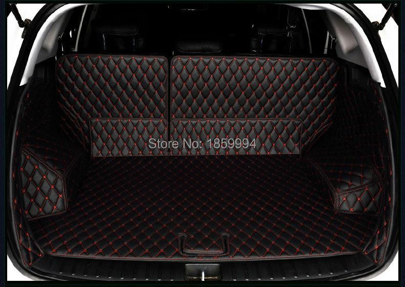 на 2015-2017 Хундай ТУКСОН 3-й задний хвост багажник автомобиля коврик прочный ботинок ковры полный охват